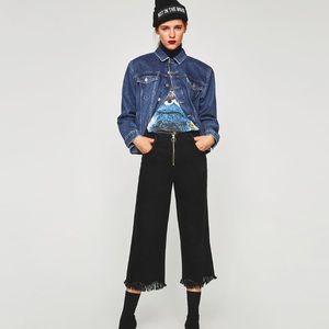 NEW Zara High Ruse Culottes 04